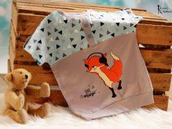 Zweifarbiges Shirt mit Plotterdatei Funky Fox