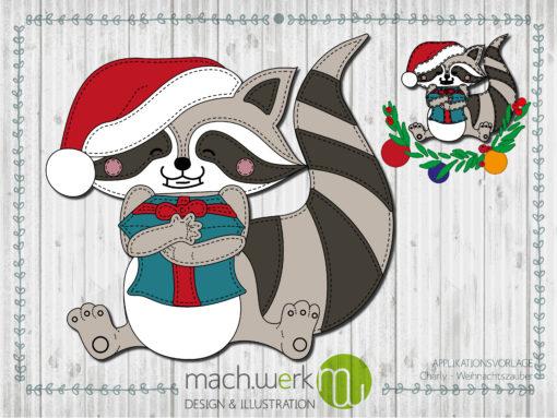 Applikation Charly Weihnachtszauber Weihnachtscharly