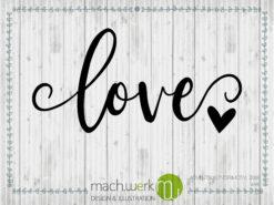 Plotterdatei Adventskalender machwerk love liebe schriftzug statement